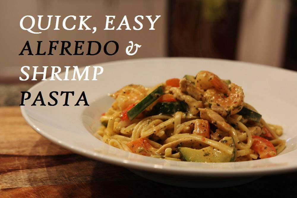 Creamy Alfredo & Shrimp Pasta