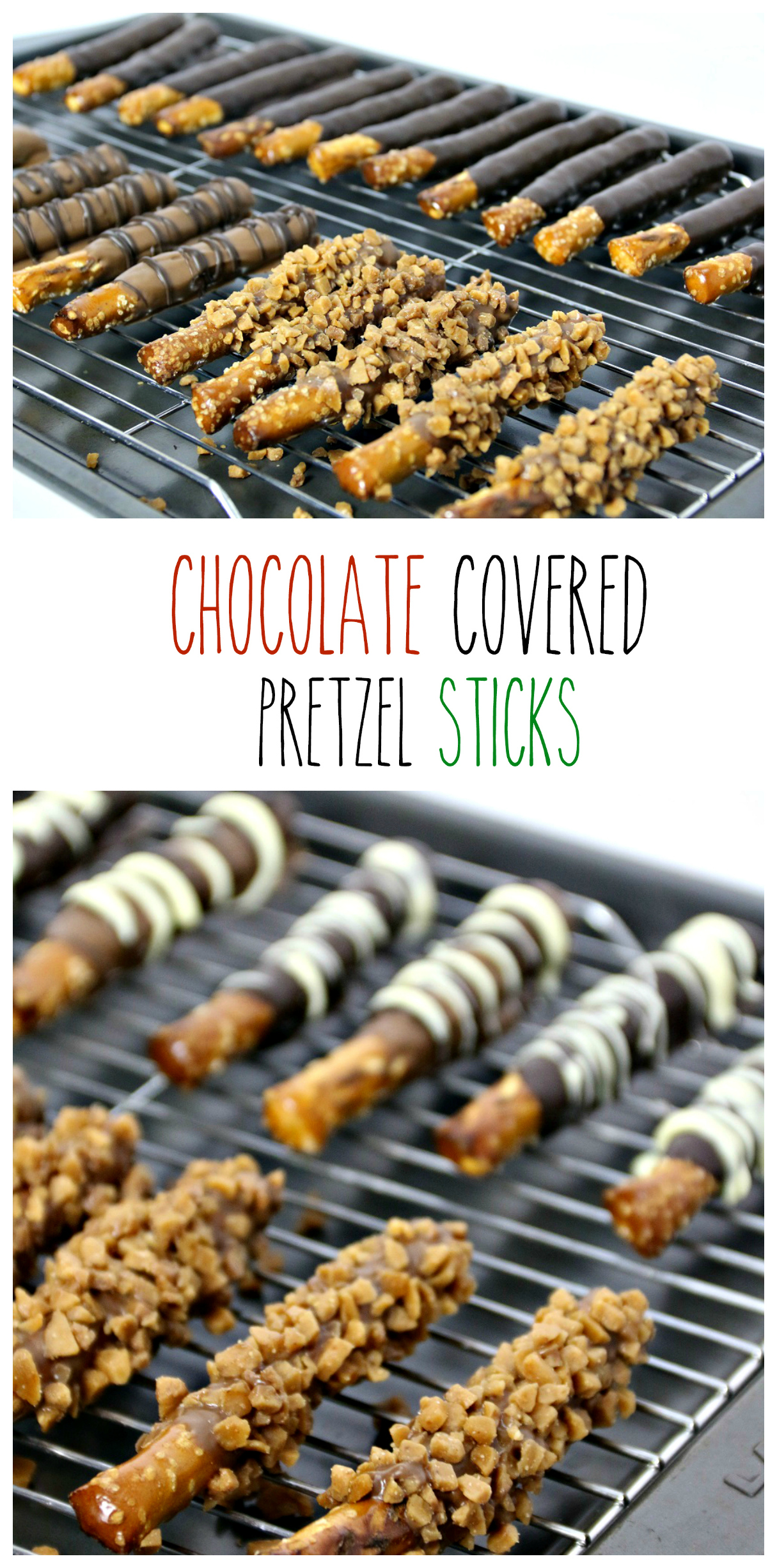 Chocolate covered Pretzels Sticks - The Northern Nest